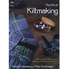 How to make a kilt. A book by Barbara Tewksbury 142 pages with over 70 color illustrations and over 200 black and white line drawings and photographs thorough, well-explained instructions for